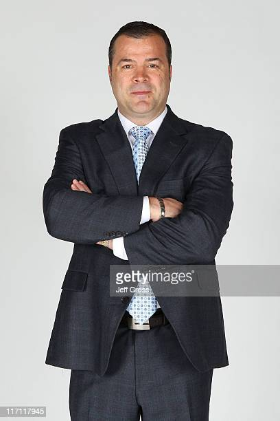 Head coach Alain Vigneault of the Vancouver Canucks poses for a portrait during the 2011 NHL Awards at the Palms Casino Resort June 22 2011 in Las...