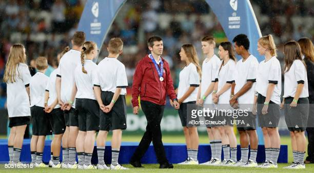 Head coach Albert Celades of Spain looks dejected after losing the UEFA European Under21 Championship Final match between Germany and Spain at Krakow...