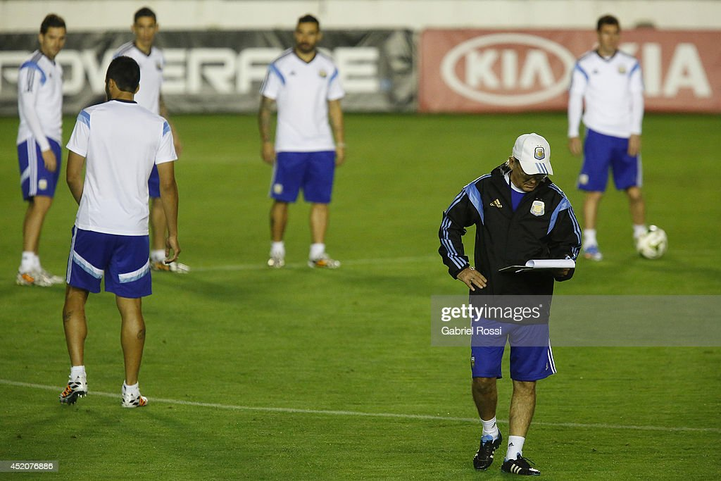 Argentina Training & Press Conference - 2014 FIFA World Cup Brazil : News Photo
