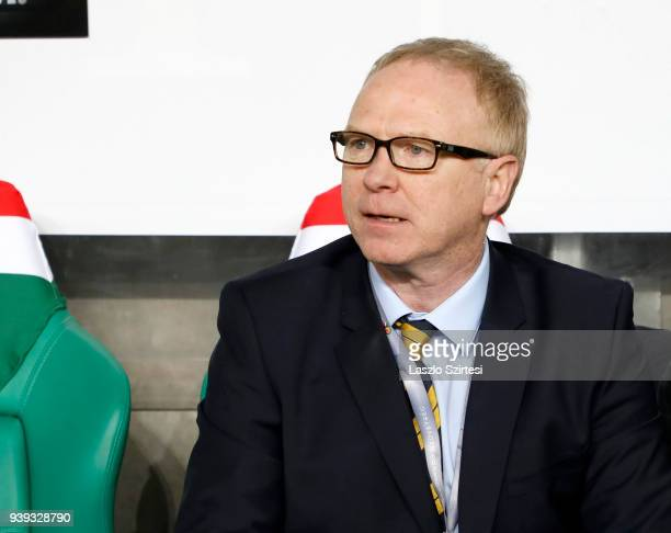 Head coach Alex McLeish of Scotland is seen during the International Friendly match between Hungary and Scotland at Groupama Arena on March 27 2018...