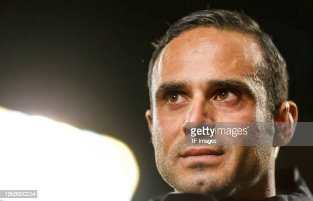 Head coach Alexander Nouri of FC Ingolstadt looks on prior to the Second Bundesliga match between FC Ingolstadt 04 and 1 FC Union Berlin at Audi...