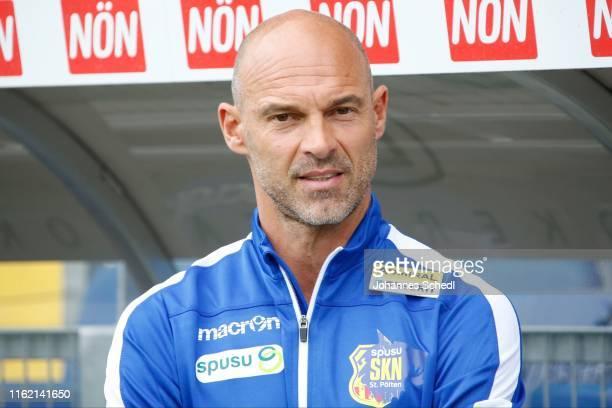 Head Coach Alexander Schmidt of St.Poelten during the tipico Bundesliga match between Spusu SKN St. Poelten and FC Red Bull Salzburg at NV Arena on...