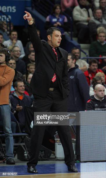 Head Coach Alexander Trifunovic during the Euroleague Basketball Game 4 between Lietuvos Rytas and Aris TT Bank at the Siemens Arena on November 14...
