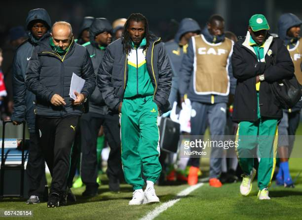 Head coach Aliou Cisse of Senegal during International Friendly match between Nigeria against Senegal at The Hive Barnet FC on 23rd March 2017