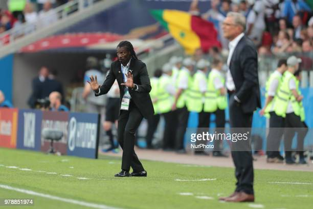 head coach Aliou Cisse of Senegal National team during the group H match between Poland and Senegal at the FIFA World Cup 2018 at Spartak stadium in...
