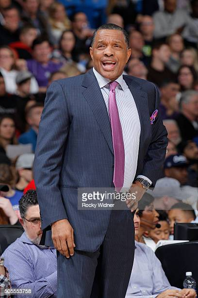 Head coach Alvin Gentry of the New Orleans Pelicans coaches against the Sacramento Kings on January 13 2016 at Sleep Train Arena in Sacramento...