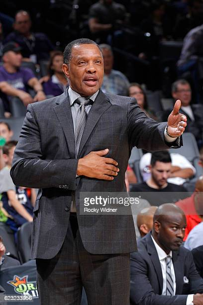 Head coach Alvin Gentry of the New Orleans Pelicans coaches against the Sacramento Kings on November 8 2016 at Golden 1 Center in Sacramento...