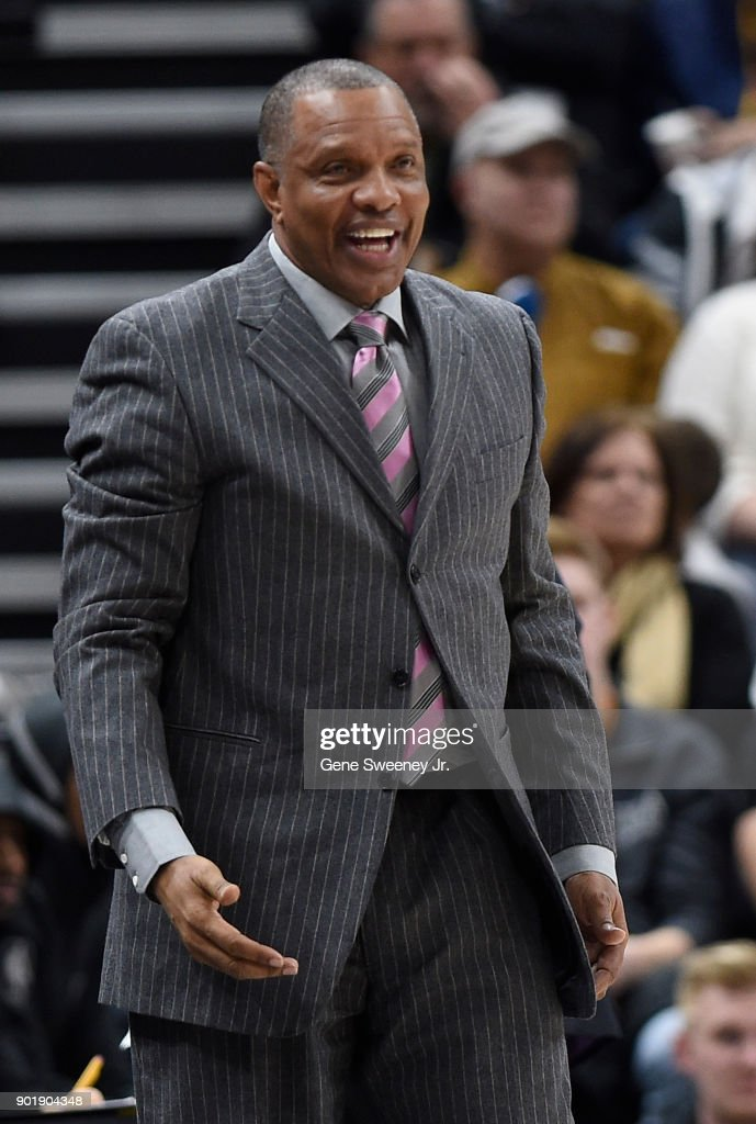 Head coach Alvin Gentry of the New Orleans Pelicans looks on from the sideline during their game against the Utah Jazz at Vivint Smart Home Arena on January 3, 2018 in Salt Lake City, Utah.