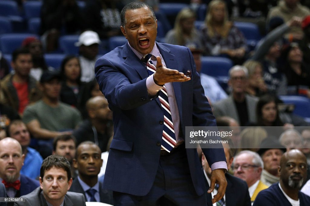 Head coach Alvin Gentry of the New Orleans Pelicans reacts during the second half against the Sacramento Kings at the Smoothie King Center on January 30, 2018 in New Orleans, Louisiana.