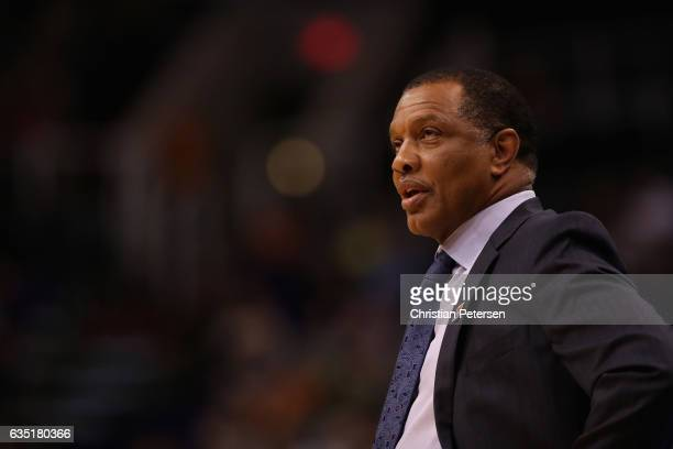 Head coach Alvin Gentry of the New Orleans Pelicans watches from the sidelines during the first half of the NBA game against the Phoenix Suns at...
