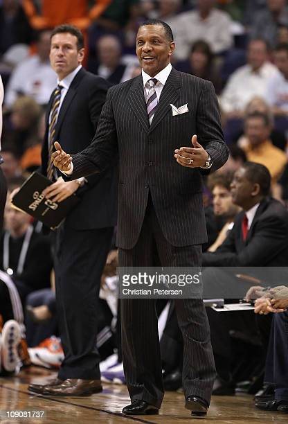 Head coach Alvin Gentry of the Phoenix Suns during the NBA game against the New Orleans Hornets at US Airways Center on January 30 2011 in Phoenix...