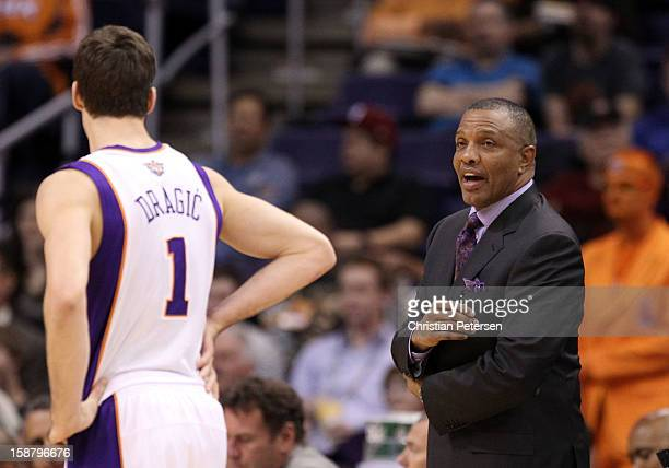 Head coach Alvin Gentry of the Phoenix Suns during the NBA game against the Charlotte Bobcats at US Airways Center on December 19 2012 in Phoenix...