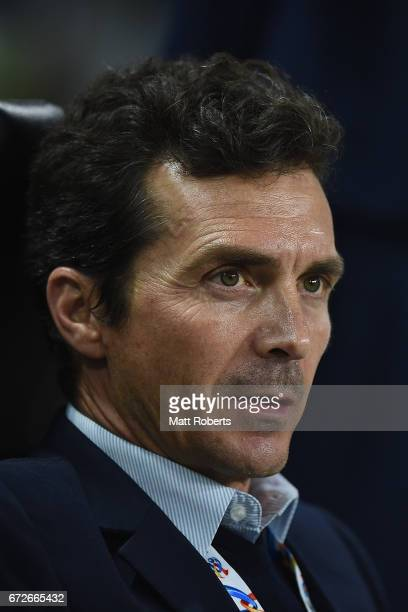 Head coach Amor Guillermo of Adelaide United looks on during the AFC Champions League Group H match between Gamba Osaka v Adelaide United at Suita...