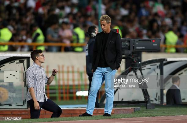 Head coach and Manager of Combodia Felix Agustin Dalmas looks on during FIFA World Cup Qualifier match between Iran v Cambodia at Azadi Stadium on...