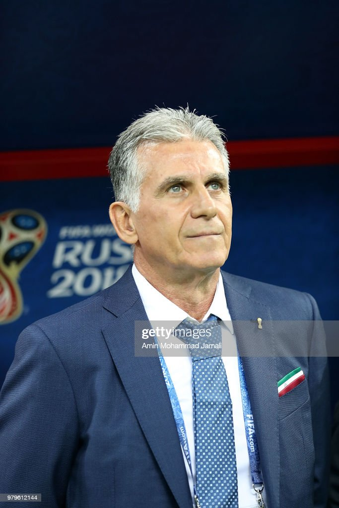 Head coach and manager of Iran Carlos Queiroz during the 2018 FIFA
