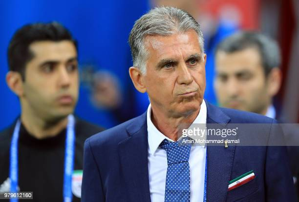 Head coach and manager of Iran Carlos Queiroz during the 2018 FIFA World Cup Russia group B match between Iran and Spain at Kazan Arena on June 20...