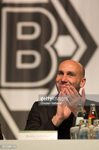 Head Coach Andre Schubert of Borussia Moenchengladbach during the General Assembly of Borussia Moenchengladbach at Borussia Park Stadium on April 18...