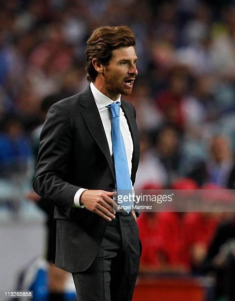 Head coach Andre Villas Boas of FC Porto reacts during the UEFA Europa League semi final first leg match between FC Porto and Villarreal at Estadio...