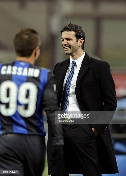 Head coach Andrea Stramaccioni of FC Inter Milan during the Serie A match between FC Internazionale Milano and Pescara at San Siro Stadium on January...