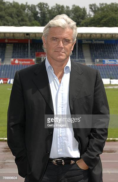 Head coach Andreas Richter poses during the Bundesliga 2nd Team Presentation of TuS Koblenz at the Oberwerth stadium on July 10 2007 in Koblenz...