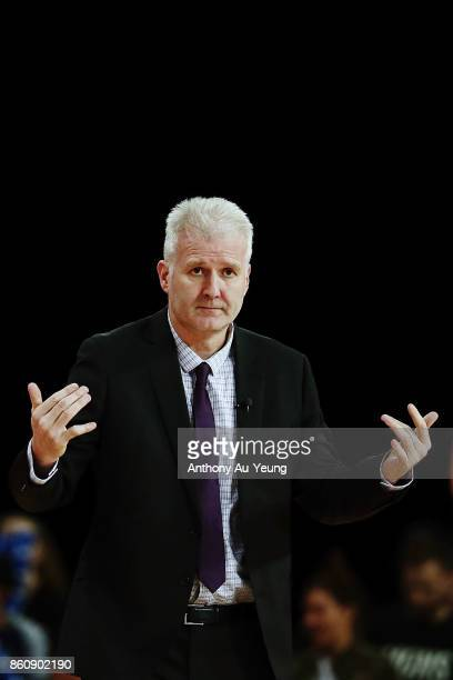 Head Coach Andrew Gaze of the Kings looks on during the round two NBL match between the New Zealand Breakers and the Sydney Kings at Spark Arena on...