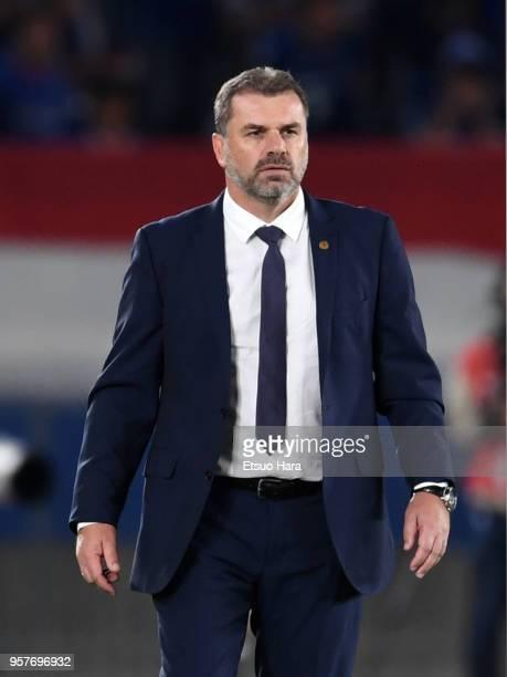 Head coach Ange Postecoglou of Yokohama FMarinos looks on during the JLeague J1 match between Yokohama FMarinos and Gamba Osaka at Nissan Stadium on...