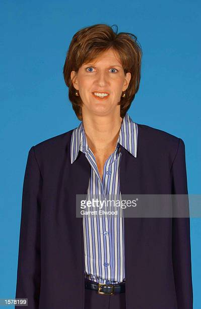 Head Coach Anne Donovan of the Charlotte Sting poses for a headshot during WNBA media day at the Charlotte Hornets training facility in Fort Mill...