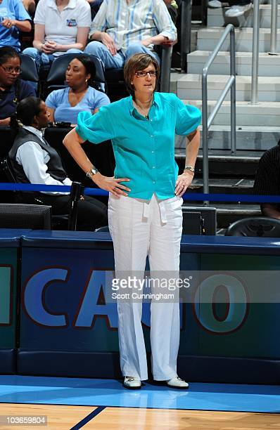 Head Coach Anne Donovan of the New York Liberty drives against the Atlanta Dream at Philips Arena on August 13 2010 in Atlanta Georgia NOTE TO USER...
