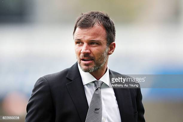 Head Coach Anthony Hudson of New Zealand looks on prior to the 2018 FIFA World Cup Qualifier match between the New Zealand All Whites and New...