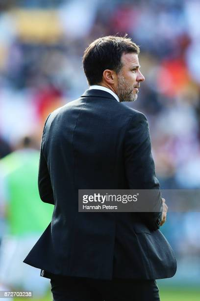 Head coach Anthony Hudson of the All Whites during the 2018 FIFA World Cup Qualifier match between the New Zealand All Whites and Peru at Westpac...