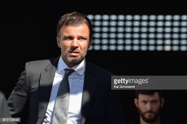 Head Coach Anthony Hudson of the All Whites looks on prior to the 2018 FIFA World Cup Qualifier match between the New Zealand All Whites and Peru at...