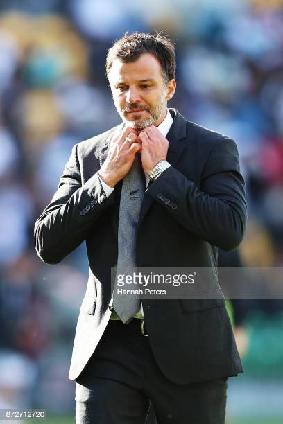 Head coach Anthony Hudson of the All Whites walks off after drawing the 2018 FIFA World Cup Qualifier match between the New Zealand All Whites and...