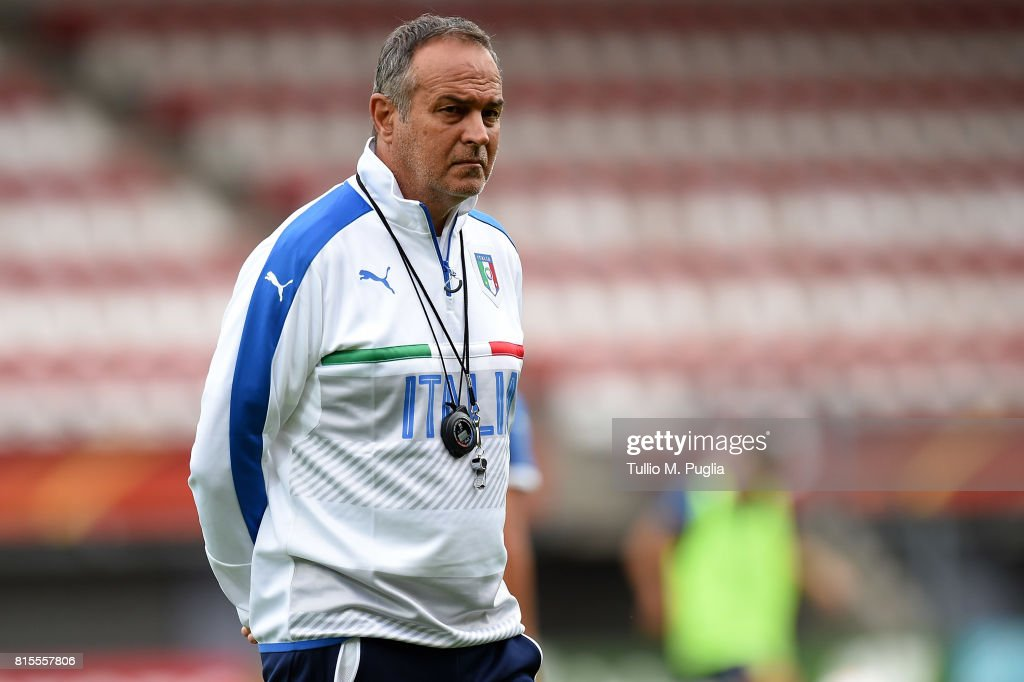 Head coach Antonio Cabrini of Italy leads a training session during the UEFA Women's EURO 2017 at Sparta Stadion Het Kasteel on July 16, 2017 in Rotterdam, Netherlands.