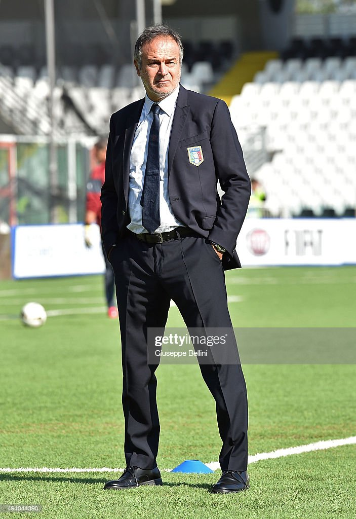 Head coach Antonio Cabrini of Italy looks on before the UEFA Women's Euro 2017 Qualifier between Italy and Switzerland at Dino Manuzzi Stadium on October 24, 2015 in Cesena, Italy.
