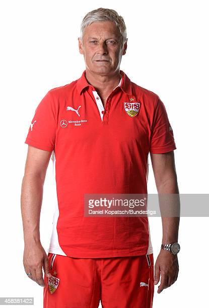Head coach Armin Veh poses during the VfB Stuttgart Media Day on July 24, 2014 in Stuttgart, Germany.
