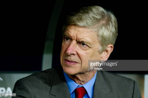 Head coach Arsene Wenger of Arsenal looks on during the UEFA Europa League Group H soccer match between 1FC Cologne and Arsenal FC at the...