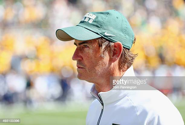 Head coach Art Briles of the Baylor Bears looks on as the Bears take on the West Virginia Mountaineers in the second half at McLane Stadium on...