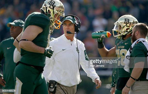 Head coach Art Briles of the Baylor Bears looks on from the sidelines against the Texas Longhorns at McLane Stadium on December 5, 2015 in Waco,...