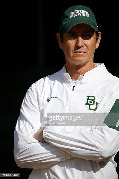 Head coach Art Briles of the Baylor Bears waits in the tunnel before the Bears take on the Texas Longhorns at McLane Stadium on December 5, 2015 in...