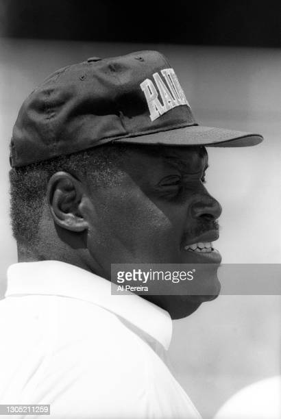 Head Coach Art Shell of the Los Angeles Raiders follows the action against the Green Bay Packers in the Pro Football Hall of Fame Game at Fawcett...