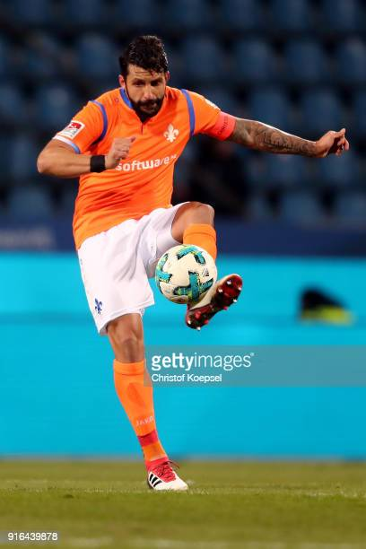 Head coach Aytac Sulu of Darmstadt runs with the ball during the Second Bundesliga match between VfL Bochum 1848 and SV Darmstadt 98 at Vonovia...
