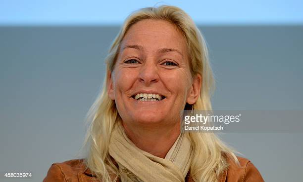 Head coach Barbara Rittner attends a DTB press conference prior to the FedCup Final at Porsche Museum on October 29, 2014 in Stuttgart, Germany.