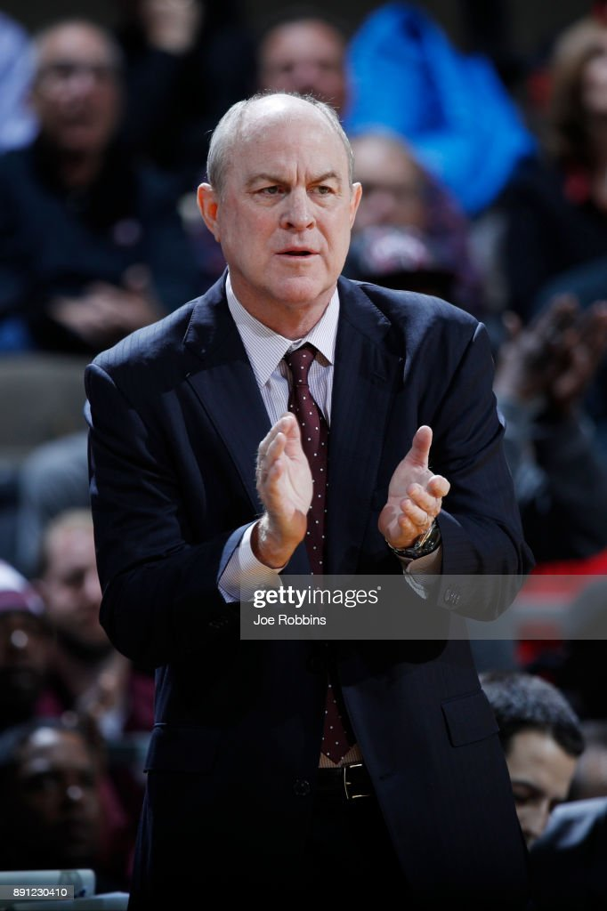 Head coach Ben Howland of the Mississippi State Bulldogs reacts in the first half of a game against the Cincinnati Bearcats at BB&T Arena on December 12, 2017 in Highland Heights, Kentucky.