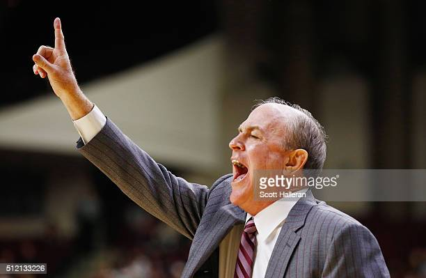 Head coach Ben Howland of the Mississippi State Bulldogs watches the action late in their game against the Texas AM Aggies at Reed Arena on February...