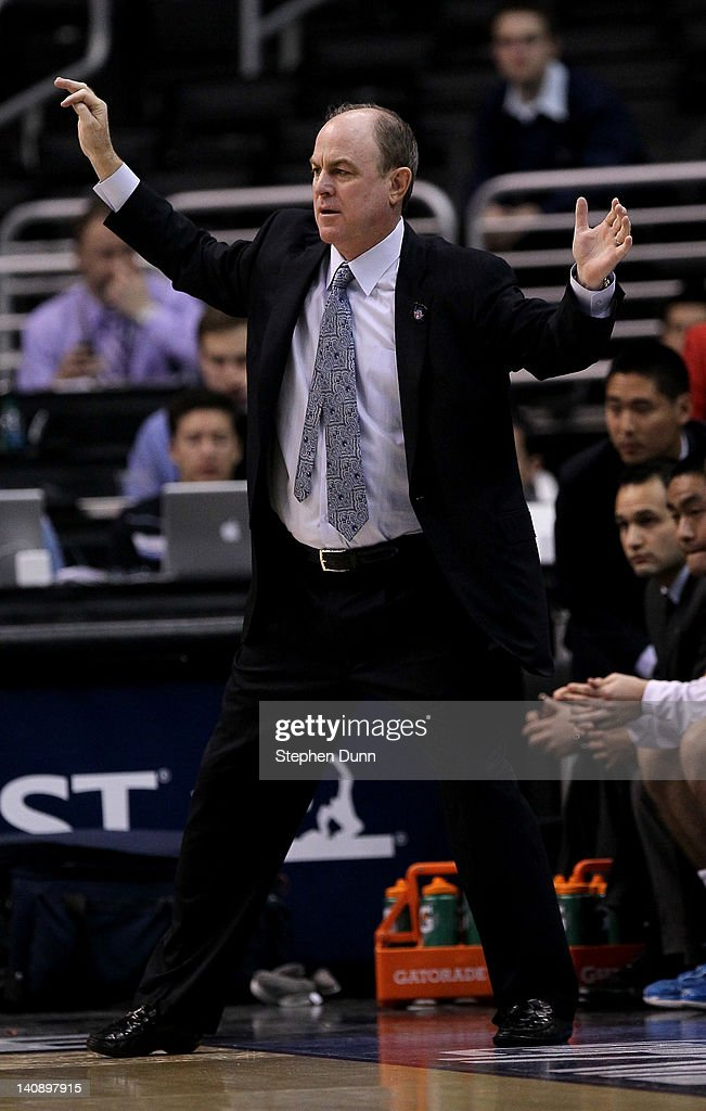 Head coach Ben Howland of the UCLA Bruins reacts during the game with the USC Trojans during the first round of the Pac12 Men's Basketball Tournament at Staples Center on March 7, 2012 in Los Angeles, California. UCLA won 55-40.