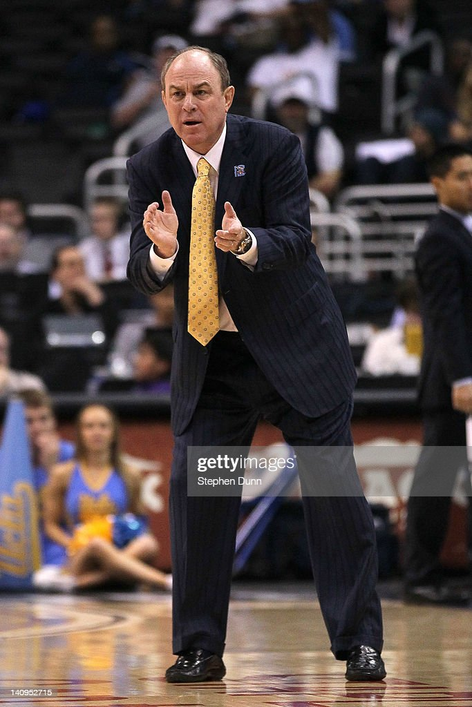 Head coach Ben Howland of the UCLA Bruins reacts in the second half as the Bruins take on the Arizona Wildcats during the quarterfinals of the 2012 Pacific Life Pac-12 basketball tournament at Staples Center on March 8, 2012 in Los Angeles, California.