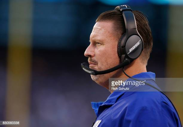 Head coach Ben McAdoo of the New York Giants looks on from the sidelines during the second half against the Pittsburgh Steelers during an NFL...