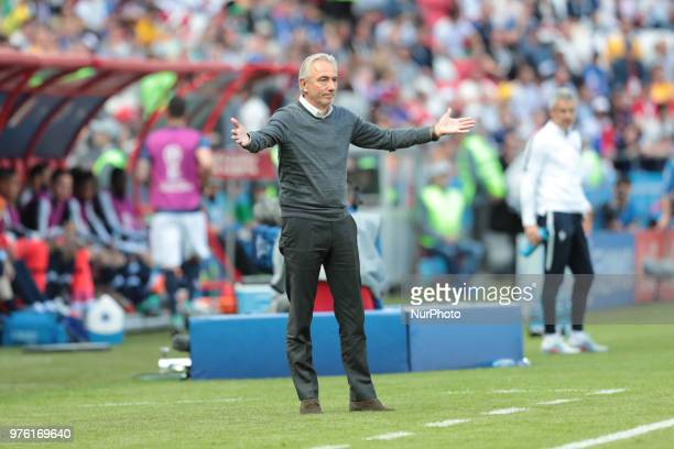 head coach Bert Van Marwijk of Australia National team during a Group C 2018 FIFA World Cup soccer match between France and Australia on June 16 at...