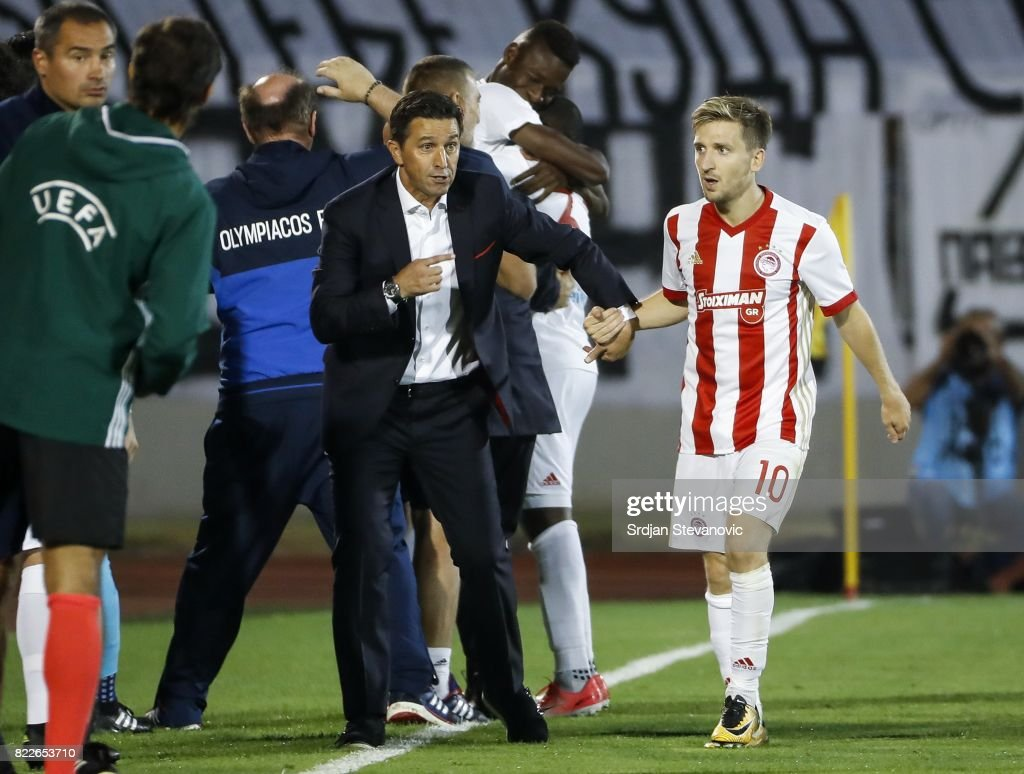 Fc Partizan v Olympiacos - UEFA Champions League Qualifying Third Round: First Leg : ニュース写真