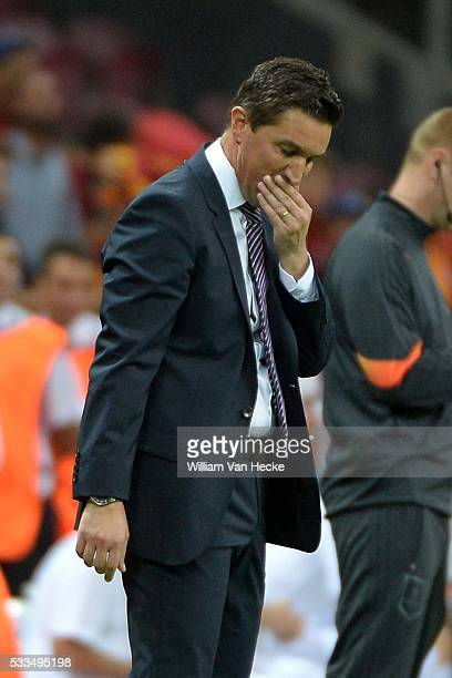 Head coach Besnik Hasi of RSC Anderlecht deception pictured during the champions league match between Galatasaray and Rsc Anderlecht on September 16...